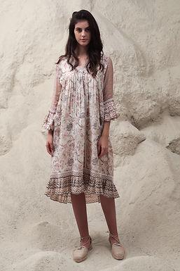 Ivory Enchanted Floral Print Dress