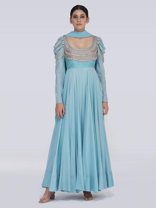 Light blue Brianna Chitra Dress