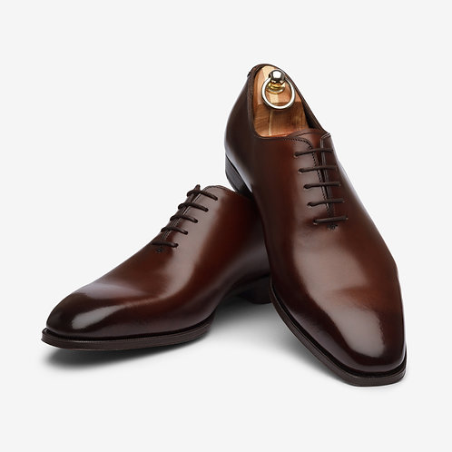 Dark Brown Wholecut Oxford Shoes
