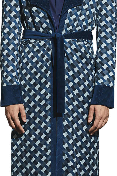 Blue Printed Robe