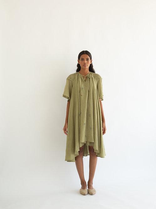 Dull Green Louisa Dress
