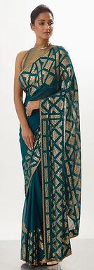 Emerald Saree