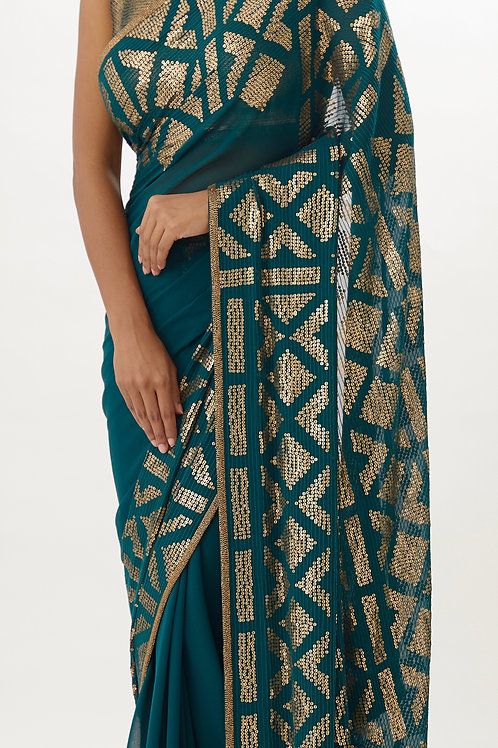 Emerald Saree