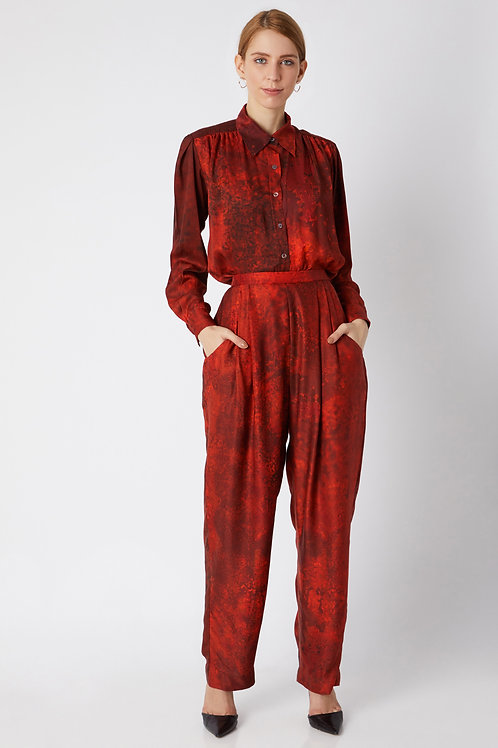 Red Printed Trouser