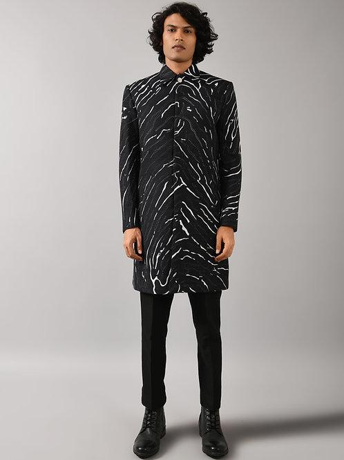 Black Terrain Maize Overcoat Jacket