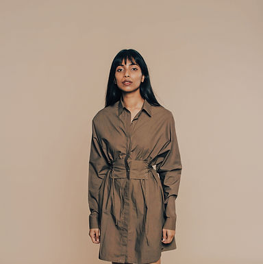 Green Go With The Flow Shirt Dress