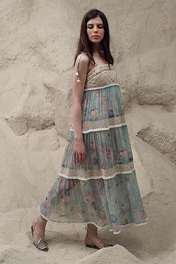 Opal Blue Boho Dress