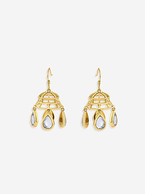 Gold Ayaana Mirror Dangling Earrings