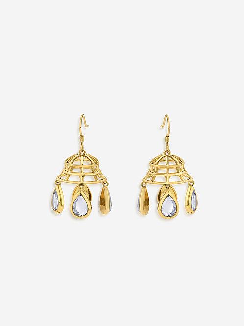 Gold Ayaana Mirror Dangling Earrings