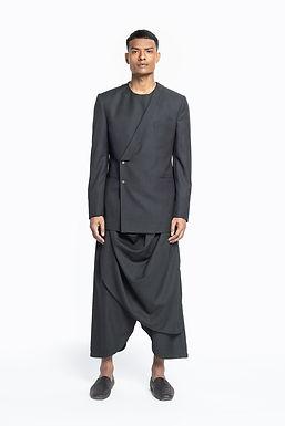 Black Monk Bandhgala Set