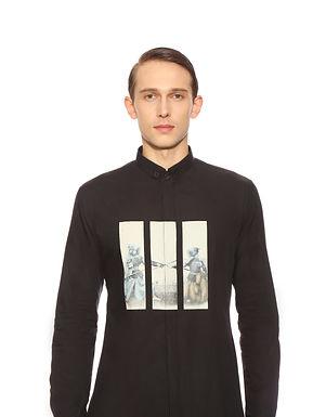 Black Quirky Printed Shirt