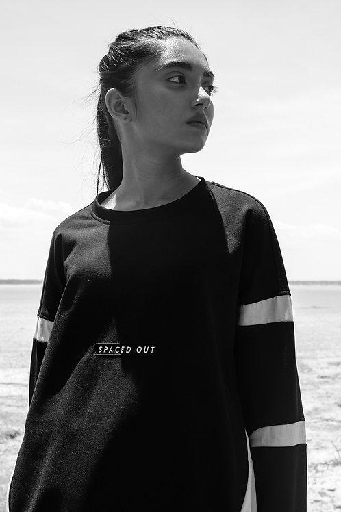 Black Spaced Out Sweatshirt