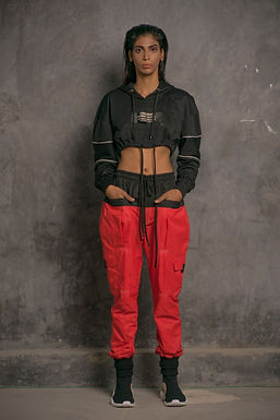 Red Dual Colour Utility Jogger