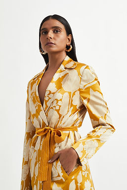 Yellow Potpourri Jacket Set