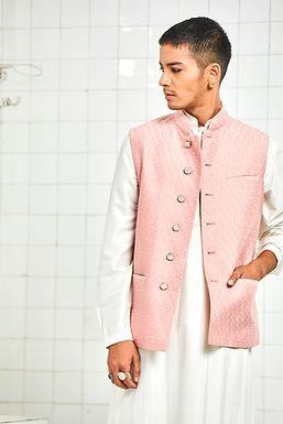 Pink Ramdevra Quilted Waistcoat
