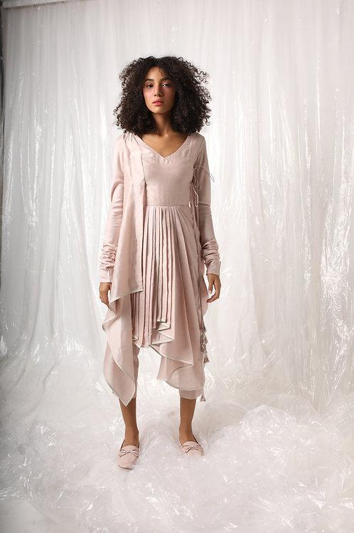 Pink Drape Jumpsuit