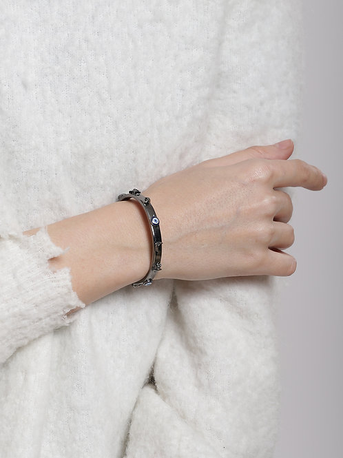 Eye Promise Celeste Gunmetal Bangle