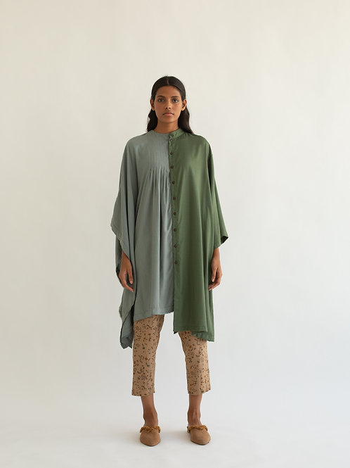 Pale  Blue and Sage Green Sphere Tunic