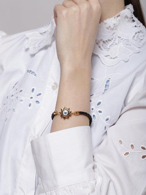 Eye Promise Trinity Suede Gold - Black Bracelet