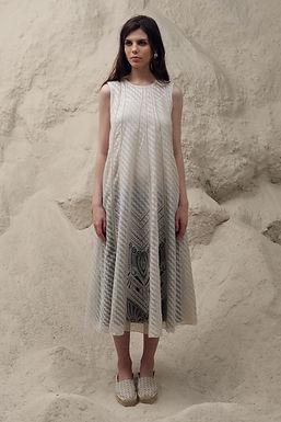 Ivory Folklore Multi Paneled Dress