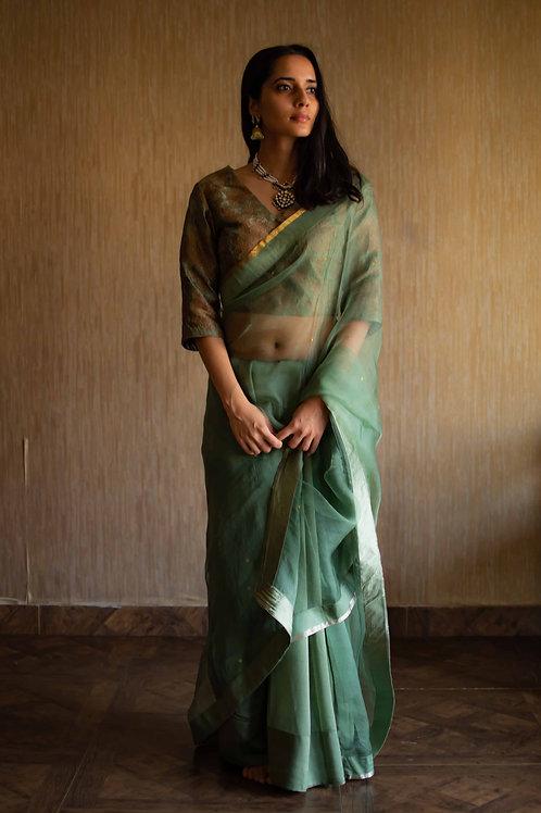 Green Handloom Saree