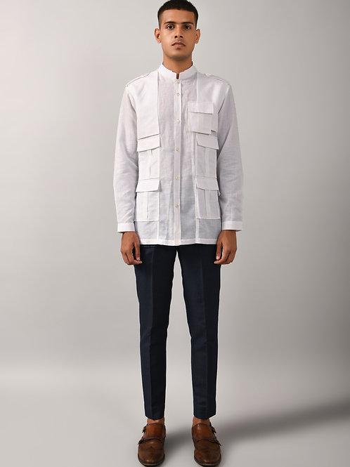 Ivory Memior Trench Shirt