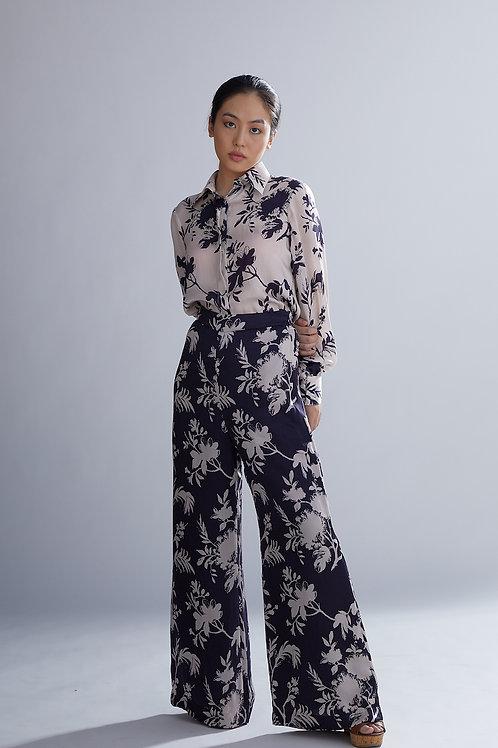 Purple And Lavender Floral Pants