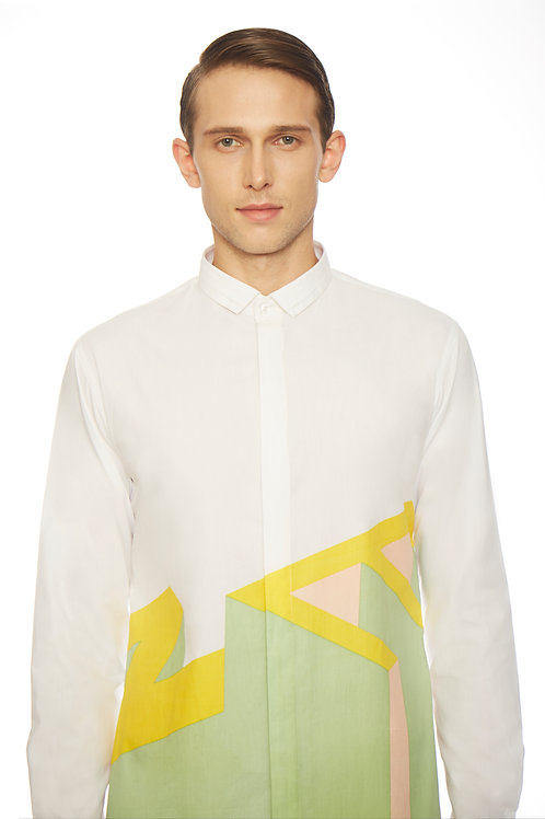 White Quirky Print Shirt