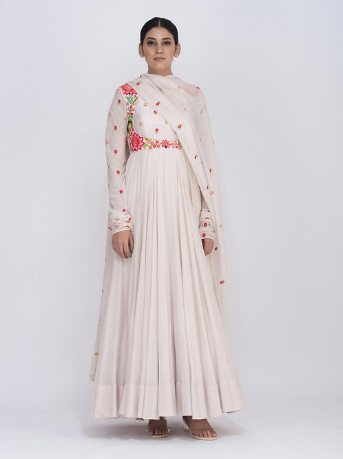 Off White Chitra Fluid Dress