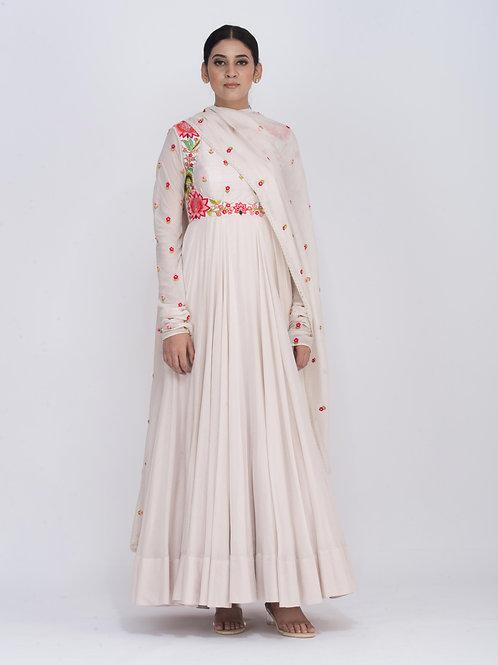 Off White Chitra Fluid Dress