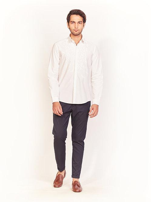 White Bird Shadow Embroidered Shirt