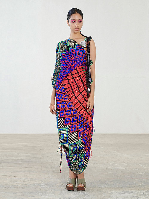 Multi Colour Saree Dress