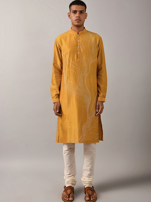 Mustard Horizon Kurta Set