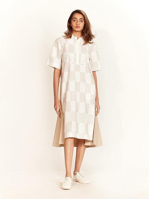 Ivory & Beige Shirt Dress