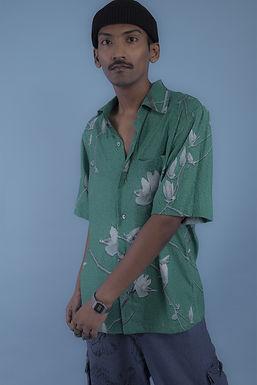 Green Oil Paint Shirt