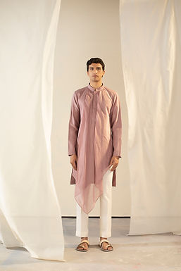 Purple Asymmetric Kurta