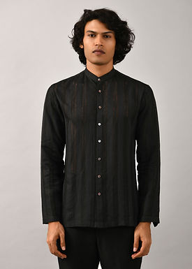 Black Runway Striper Shirt