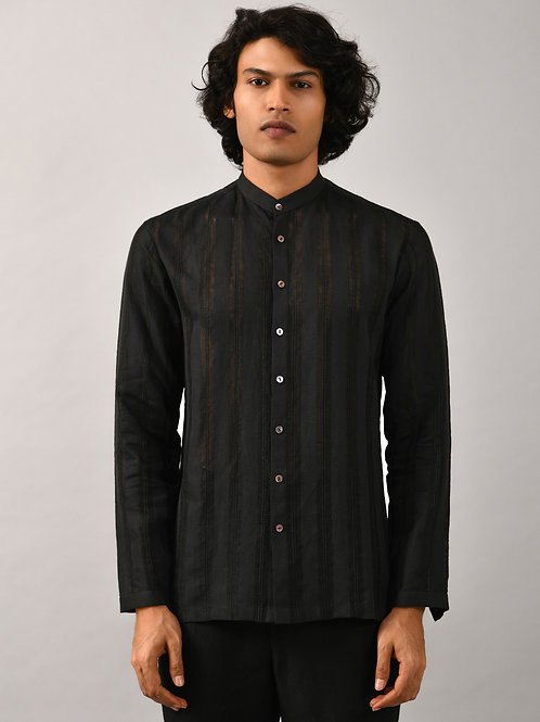 Black Runway Striper Shirt
