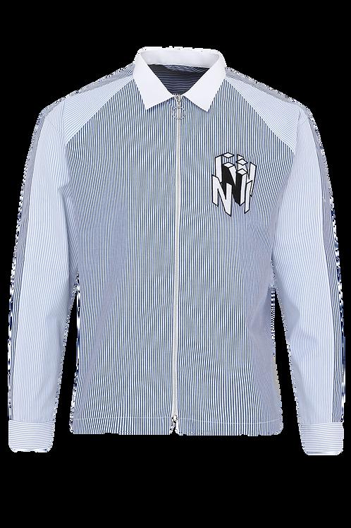 Blue Striped Shacket