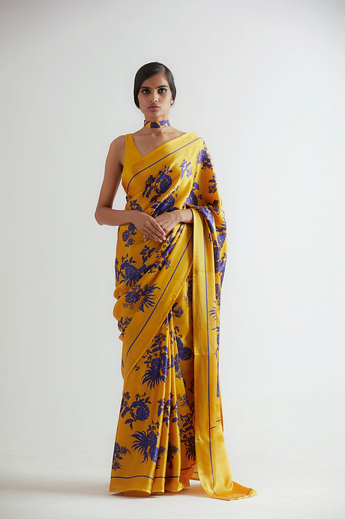 Yellow Bentota All Over Print Saree