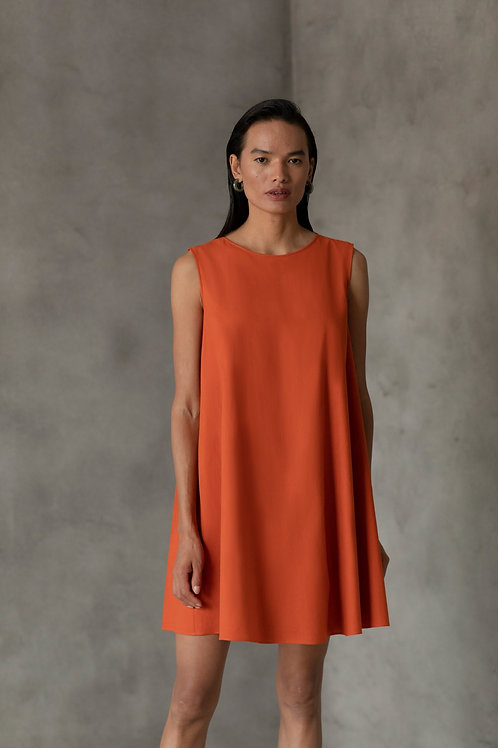 Orange Den Dress