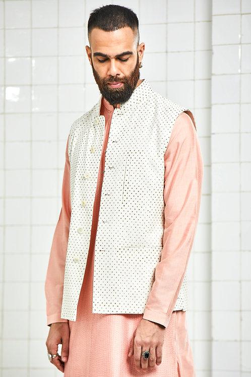 Ivory Bonada Pintuck Waistcoat