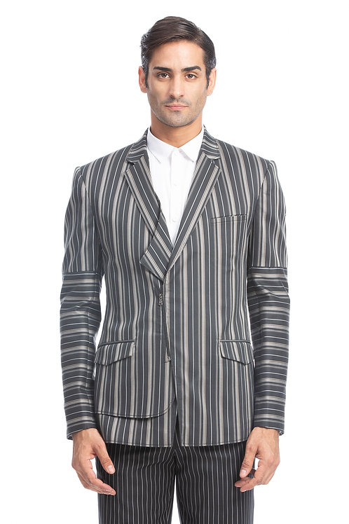 Grey Stripe Jacket