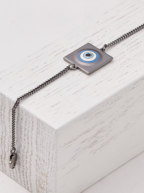Protego Gunmetal Chain Bracelet