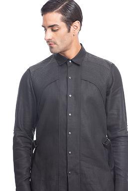 Black Shoulder Panel Shirt