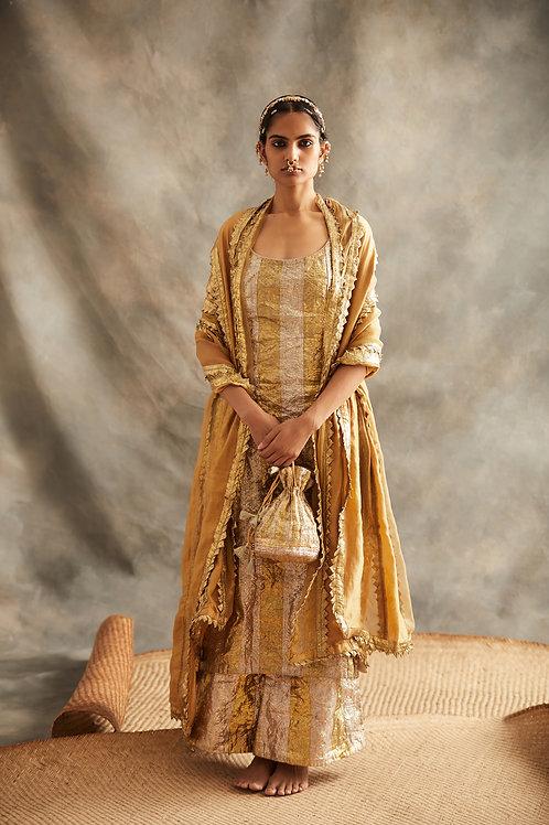 Gold And Silver Salwar Set
