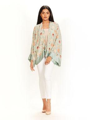 Aqua Chidiya Print Kimono Jacket