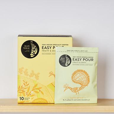 Easy Pour Nachammai Estate | Light Roast Box of 10 Sachets