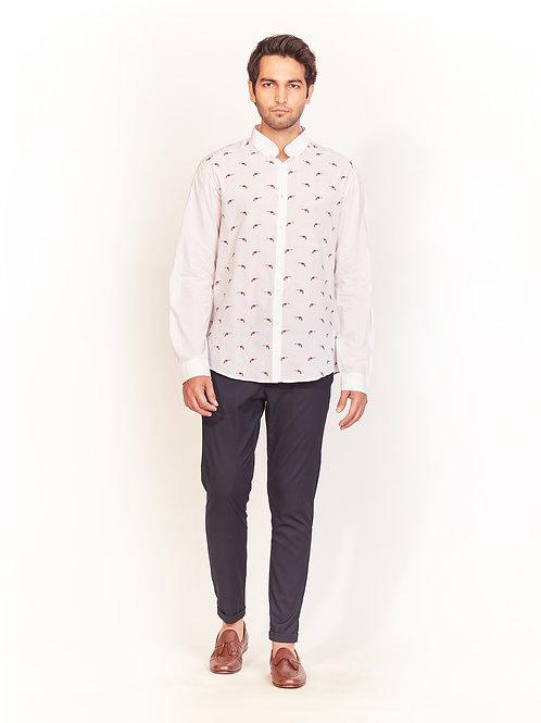 White Revolver Embroidered Shirt