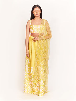 Yellow Embellished Lehenga Set